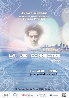 Affiche de la journée numérique de Paris Descartes